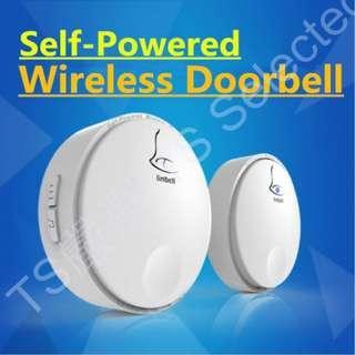 自發電 無線 電鈴 免電池 門鈴 免佈線 長距離 老人 緊急 求救鈴 聽障 視障 身障 病患 服務鈴 閃光 音樂 家用 寵物 一對一 一對多 多對一 多對多 self powered wireless doorbell