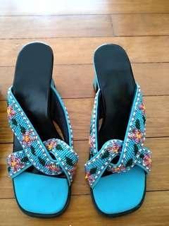 Nonya  beaded heels