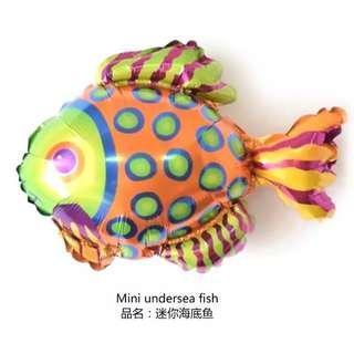 Mini Spotted Fish Foil Balloon
