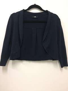 Wallis Navy cotton cardigan