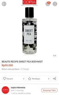 Sweet pea body mist 250ml