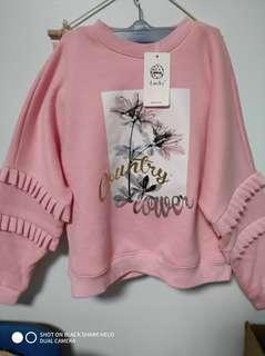 冬季 粉色長袖 內刷毛