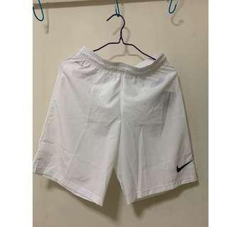 nike 白色波褲 white