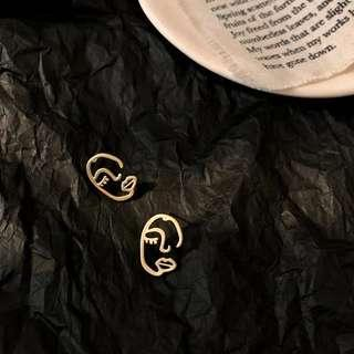 PO Face Earrings
