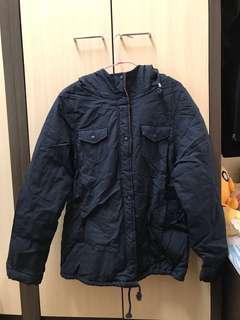 🚚 (二手)藏青色內鋪面防風外套