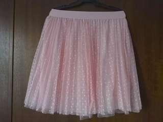Cute Pink Sheer Tutu Skirt