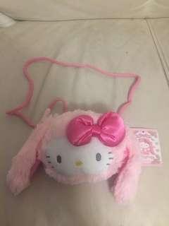 Hello Kitty 毛毛小手袋