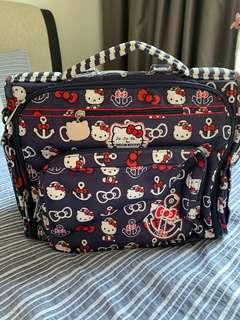 🚚 Jujube JJB Out to Sea OTS Rare Find Hello Kitty Nautical Navy Blue Anchor BFF Diaper Bag + BN Shoulder Straps & Change Pad