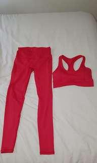 Saski collection red set size medium