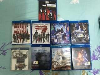 9 pieces original bluray movies