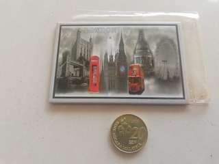 London fridge magnet hardboard rm5 NEW
