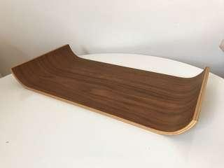 Wooden designer tray Tonfisk walnut