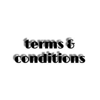 🚚 terms & conditions