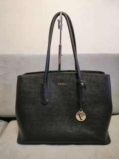 Furla Black Onyx Tote Bag Genuine leather