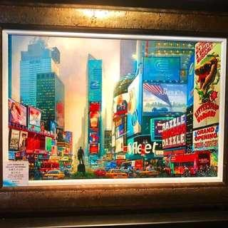 """🎨 22"""" x34"""" Art : Alexander Chen Artwork """"TIME SQUARE SOUTH"""" with certificate of authenticity"""