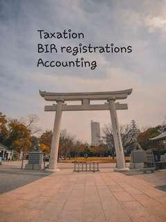 Taxation, Accounting and BIR registration advices