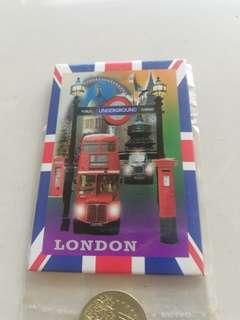 London underground fridge magnet hard board rm5 NEW