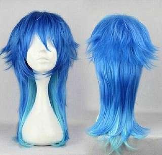 🚚 DRAMAtical Murder BL game Aoba Seragaki Sly Blue cosplay wig