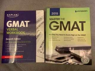 GMAT Books (Peterson's and Kaplan set)