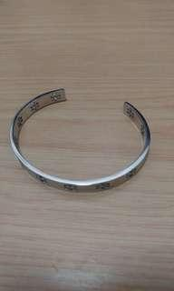 (有單有袋) Tory burch logo silver bangle
