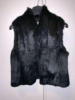 Lisa Ho Black Fur Vest