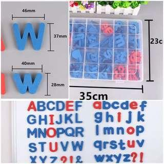 Magnetic alphabets (partitioned box)