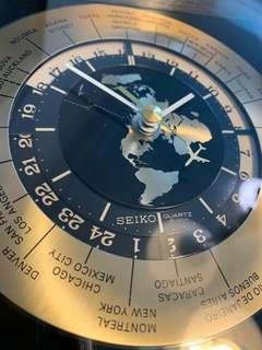 日本SEIKO精工1980年世界時計高頻靜音石英座鐘