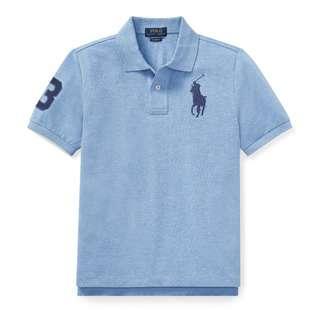 Polo Ralph Lauren Big Pony Cotton Mesh Polo Shirt 100% Ori