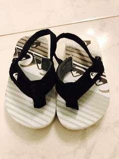 Quiksilver kids sandals flip flops 拖鞋 17cm