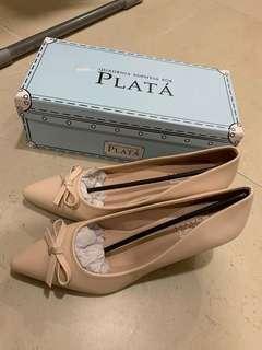 PLATA 淺粉紅色 高跟鞋 39碼 全新有盒 原價799