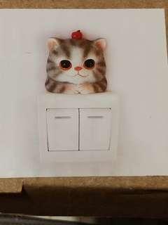 貓貓 家居燈掣 裝飾 cat kitty switch decoration