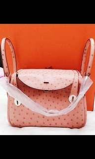 Hermes Lindy Ostrich 26 Terricute Stamp T