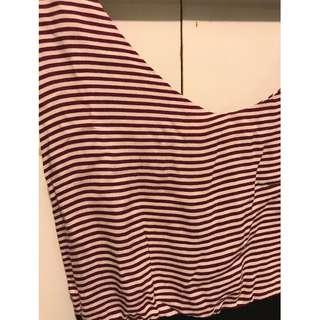 Dress stripe ungu