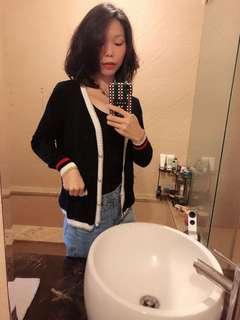 🚚 珍珠鈕扣香奈兒風針織外套+背心