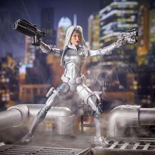 VERY RARE & HOT! *Pre-Order* Hasbro Marvel Legends Silver Sable with Kingpin BAF part!