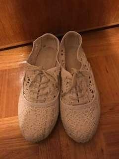 Aldo lace crochet flats