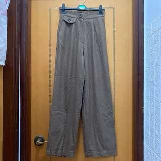 $80 韓國棕色下垂長褲 (半橡筋腰圍可達30吋,長100cm)