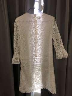 🚚 White lace dress from Nine West