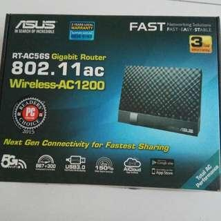 2.4G 5G Router Asus RT-AC56S Gigabit Router