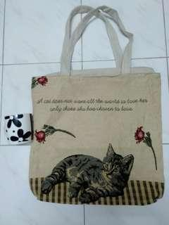 Fabric Tote Bag with zipper