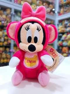 🚚 BN LE Japan Tokyo Disneyland Minnie Mouse Zodiac Monkey Plush with Pin + Chain