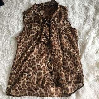 Leopard sexy blouse