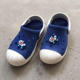 89af54c97235  PL  Crocs Blue   White Sandal Kids Children waterproof shoes casual