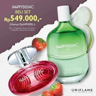 500rb dapat 2 Parfum Happydisiac man and woman