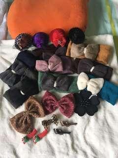 Various hair band and clips