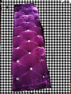 絲絨長櫈可做梳化內裏可置物