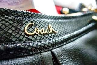 Coach Bag F20114 Ashley Leather Hippie Black Shoulder Sling