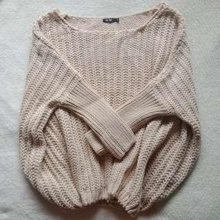 Chica Nude Oversized Knitted Loose Sweater Topper