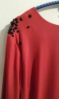 LUBNA red jubah