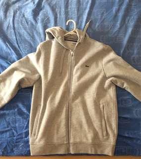 Men's Lacoste Grey Zip Hoodie